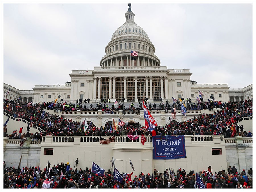 अमेरिकामा हिंसा  : 'ट्रम्पको मत परिणाम उल्टाउने प्रयास'