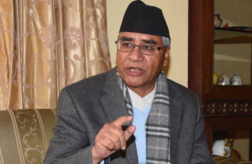 कांग्रेस सभापती  देउवा भन्छन् :  'लुम्बिनी घटना निन्दनीय, नयाँ सरकारका लागि मार्गप्रशस्त गर '