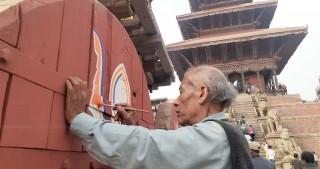 """भक्तपुरको प्रसिद्ध बिस्का जात्रा  :  """"भैरवनाथको रथ तानेर  आजबाट हुँदै """""""