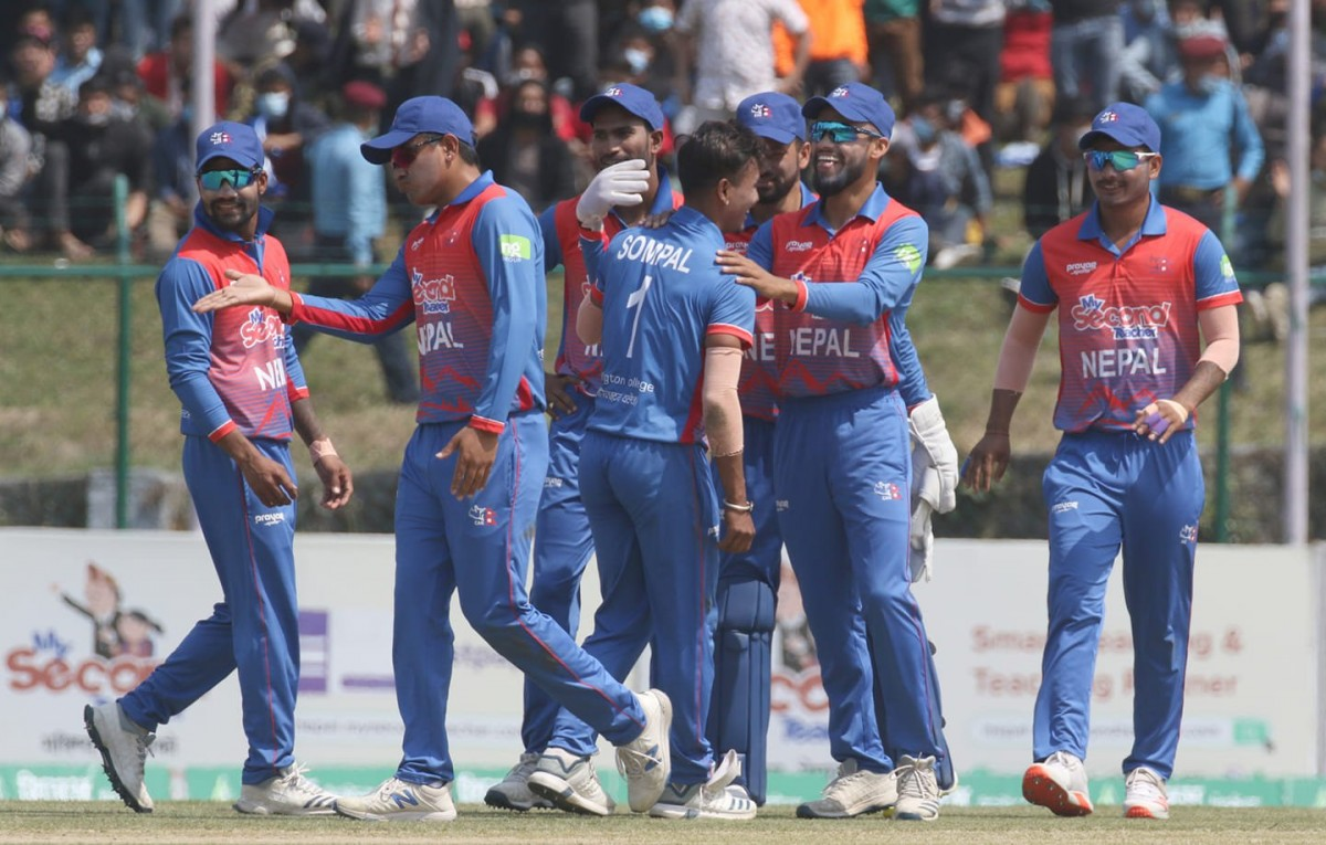 टी ट्वान्टी क्रिकेट :  विश्व वरीयतामा  नेपाल एक स्थान माथि उक्लियो