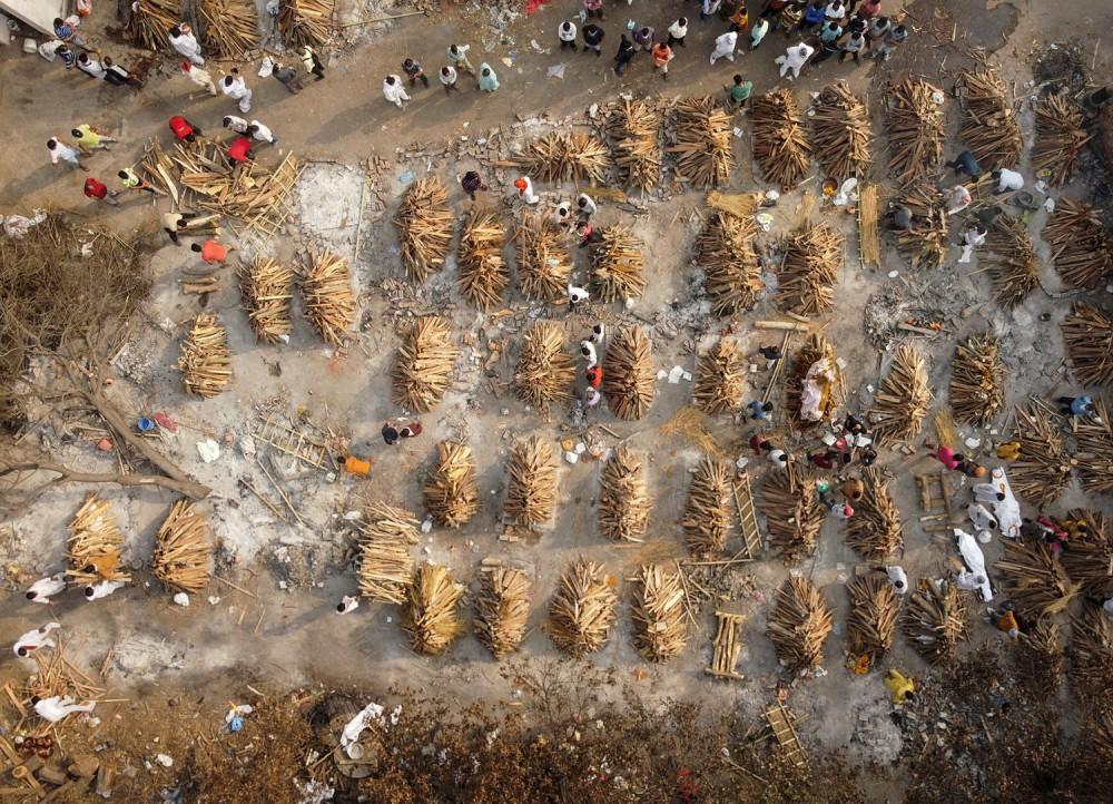 भारत :  'एकै दिन ३ लाख ८६ हजारलाई कोरोना, ३४९८ को मृत्यु'