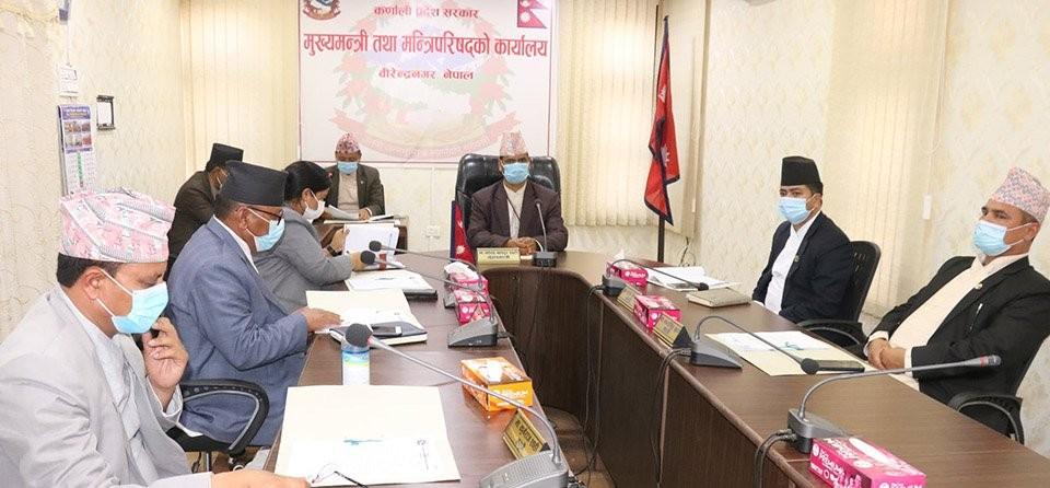 मन्त्रिपरिषद्को बैठक  निर्णय : ' प्रत्येक जिल्लालाई एक करोड, पाँच जिल्लामा एक एक सय बेड थप्ने'