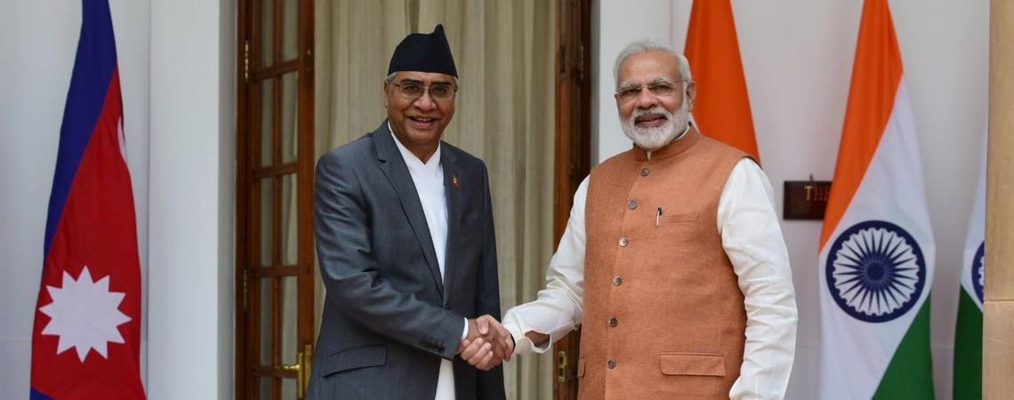 भारतीय प्रधानमन्त्री मोदीले   प्रधानमन्त्री देउवालाई  दिए बधाई