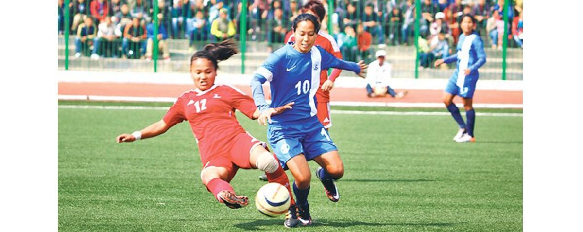 महिला फुटबल : आज दोस्रो खेल, नेपाल र बंगलादेशबीच