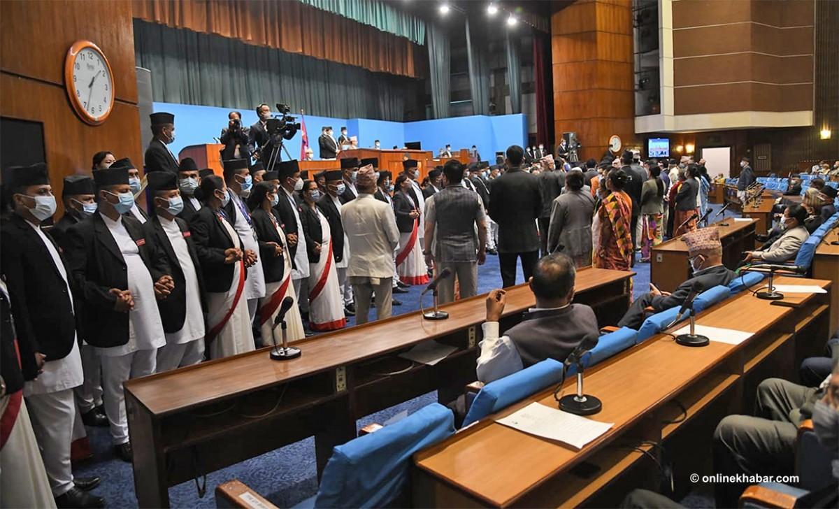 विनियोजन विधेयक  प्रस्ताव पारित   :'बजेट पारित नहुँदै संसद बैठक असोज ४ सम्म स्थगित'